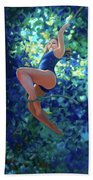 Girl On A Rope Hand Towel