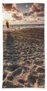 Girl On The Beach Hand Towel