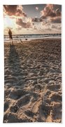 Girl On The Beach Bath Towel