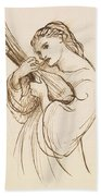 Girl With A Musical Instrument Bath Towel