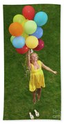 Girl With Air Balloons Bath Towel