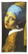 Girl With Pearl Earring Hand Towel