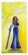 Girl With Sword. Astral Traveler Bath Towel