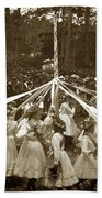 Girls  Doing The Maypole Dance Pacific Grove Circa 1890 Bath Towel