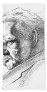 Gk Chesterton Bath Towel