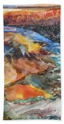 Glacial Meltdown Hand Towel by Ruth Kamenev