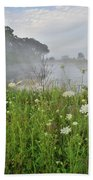 Glacial Park Pond Reflection Bath Towel