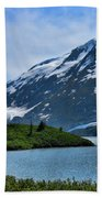 Glacier Alaska Lake  Bath Towel