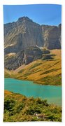 Glacier Cracker Lake Panorama Bath Towel
