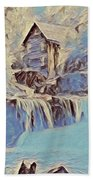 Glade Creek Grist Mill In Winter Bath Towel