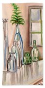 Glass And Ferns Hand Towel
