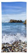 Glass Beach, Fort Bragg California Bath Towel