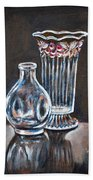 Glass Vases-still Life Bath Towel