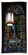 Glass Window Of Saint Philip In The Basilica In Santa Fe  Hand Towel