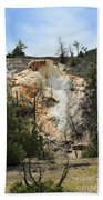 Glen Spring At Mammoth Hot Springs Upper Terraces Hand Towel