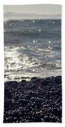 Glistening Rocks And The Ocean Bath Towel