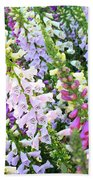 Glorious Foxgloves Bath Towel