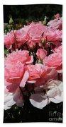 Glorious Pink Roses Bath Towel