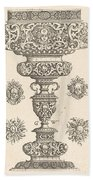 Goblet, Rim Decorated With Masque And Bouquet Of Fruit Bath Towel