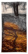 Gold And Orange Path Bath Towel