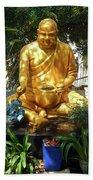 Gold Buddha 4 Bath Towel