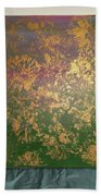 Gold Flowers Bath Towel