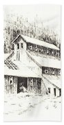 Gold Mine Cable Ghost Town Montana Bath Towel