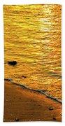 Golden Beach Sunset Bath Towel