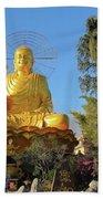Golden Buddha In Vietnam Dalat Bath Towel
