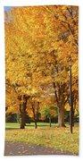 Golden Colors In Autumn Bellavista Park Oregon. Bath Towel