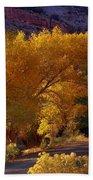 Golden Cottonwoods Bath Towel