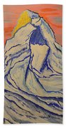 Golden Dawn On Matterhorn Bath Towel