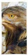 Golden Eagle Bath Towel