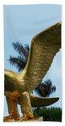 Golden Eagle Take Off Bath Towel