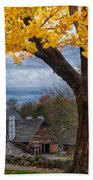 Golden Fall Colors Over Iron Works Bath Towel