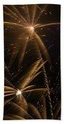 Golden Fireworks Bath Towel