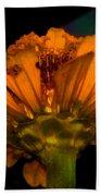 Golden Flower Bath Towel