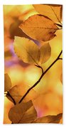 Golden Foliage Bath Towel