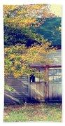 Golden Fall Foliage  Bath Sheet