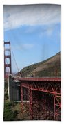 Golden Gate Bridge From The Scenic Lookout Point Bath Towel