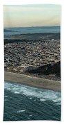 Golden Gate Park And Ocean Beach In San Francisco Bath Towel
