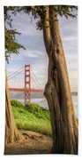 The Trees Of The Golden Gate Bath Towel