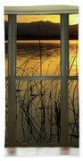 Golden Lake Bay Picture Window View Bath Towel
