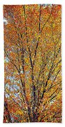 Golden Leaves - Oil Paint Bath Towel