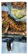 Golden Leopard Bath Towel
