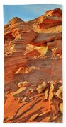 Golden Light On Valley Of Fire Arch Bath Towel