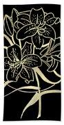 Golden Lilies Bath Towel