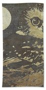 Golden Owl Hand Towel by Mindy Sommers