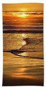 Golden Pacific Sunset Bath Towel