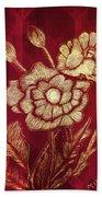 Golden Poppies Bath Towel